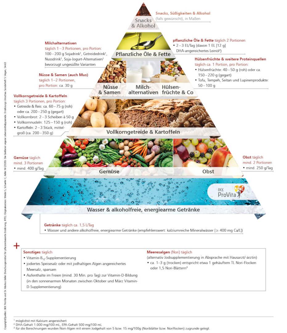 Die Gießener vegane Lebensmittelpyramide: so decken Sie Ihren Bedarf kritischer Nährstoffe